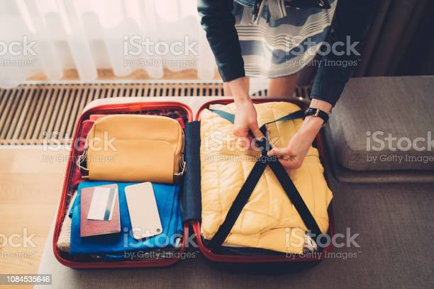 Tourist woman packing the suitcase before leaving picture id1084535646?b=1&k=6&m=1084535646&s=612x612&h=2m ojv4jgcjqwuag0fwpqmxqxfow0eurnsps4h06asq=