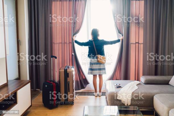 Tourist woman staying in luxury hotel picture id954103190?b=1&k=6&m=954103190&s=612x612&h=zcrfddy8viy0y7ntpipbjryyk6lnetuhwbhvupwk6ms=