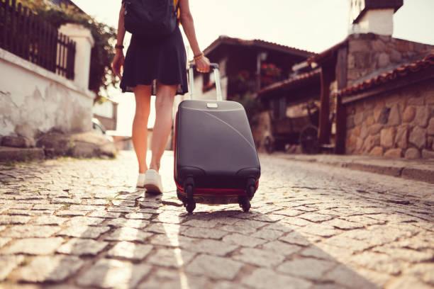 Touristischen Frau Reisen in Europa – Foto