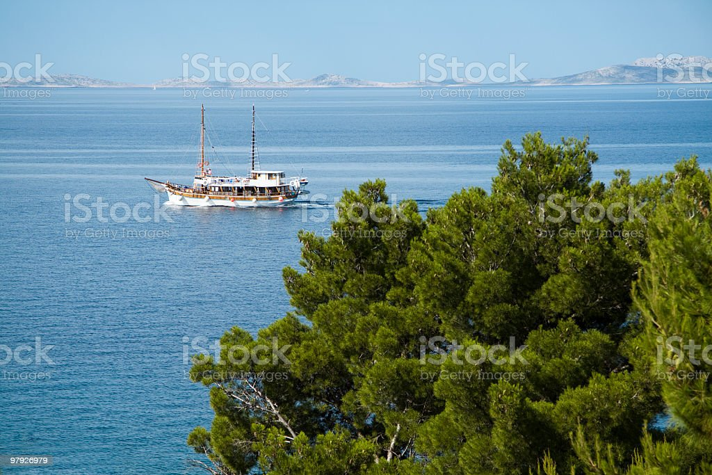 Touristic boat royalty-free stock photo
