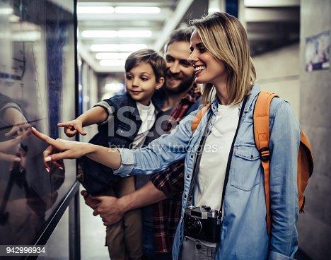 istock Touristic family in subway 942996934