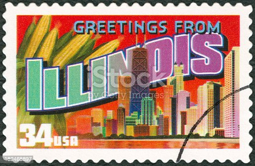 Postage Stamp - Greetings from Illinois