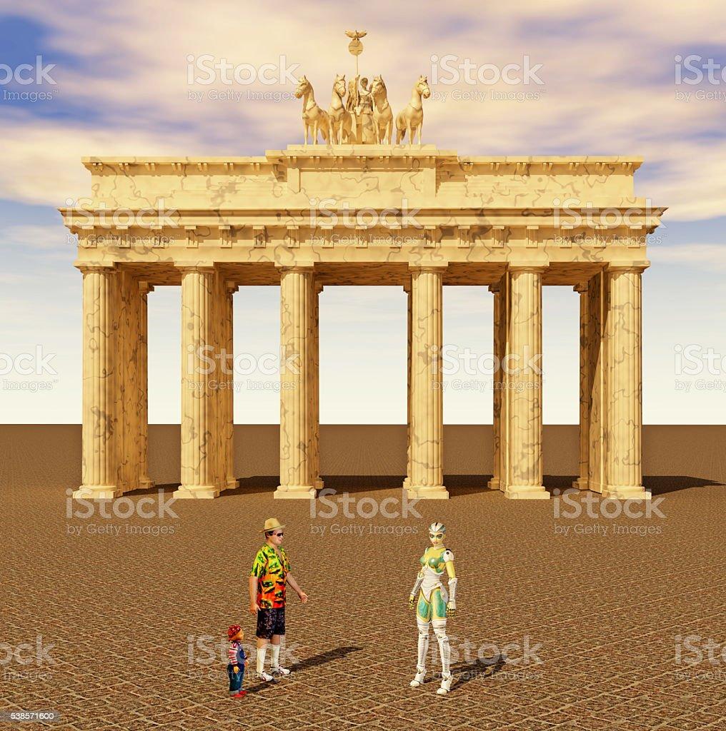 Touristen und dem Reiseleiter in Berlin – Foto