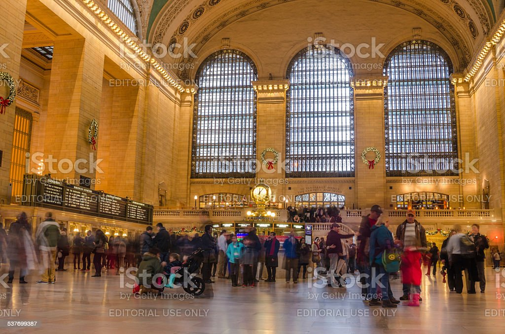 Tourists and Travellers at Grand Central Terminal stock photo