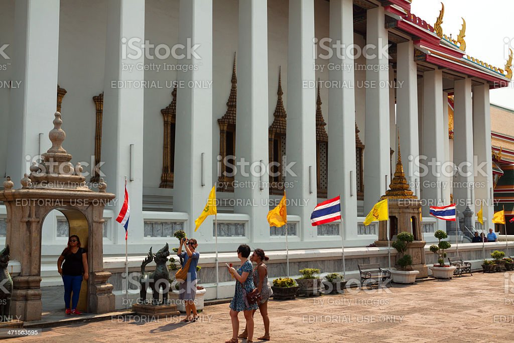 Tourists around temple royalty-free stock photo