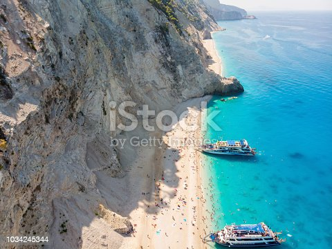 istock Tourists Arrived At The Beach. 1034245344