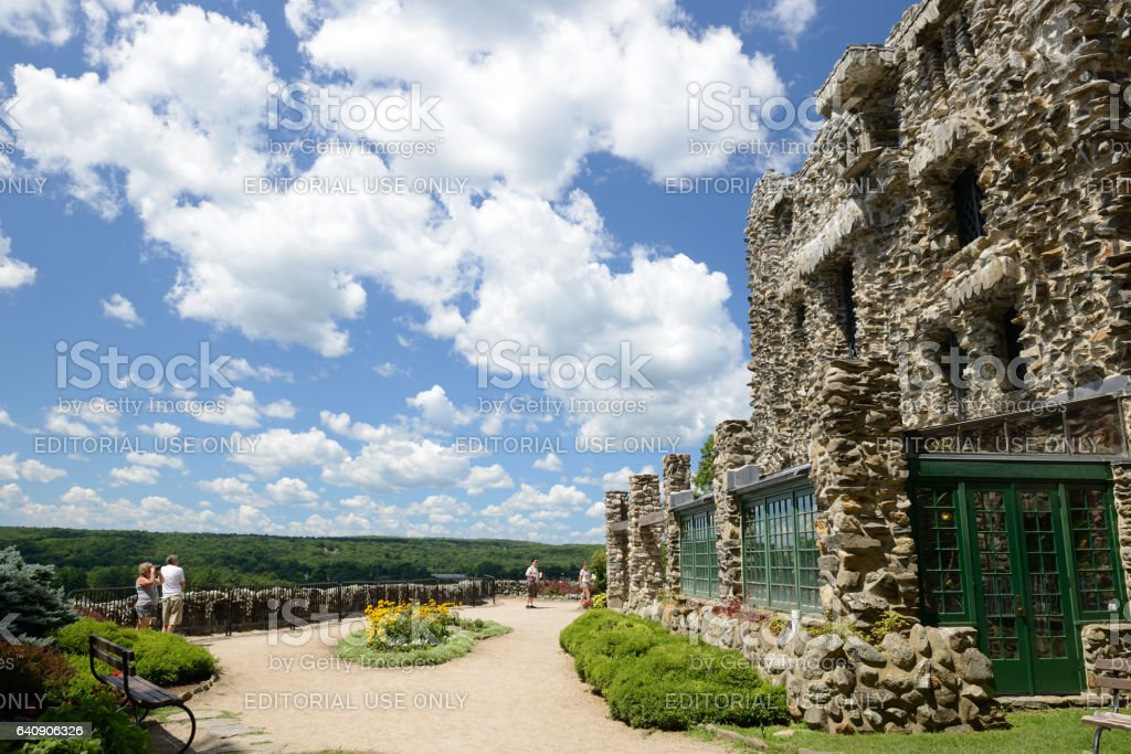 Tourists At Gillette Castle In Connecticut Stock Photo