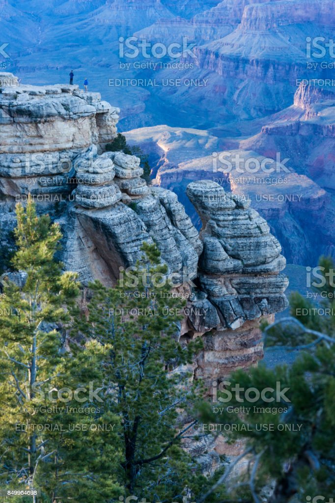 Tourists at Mather Point at Grand Canyon stock photo