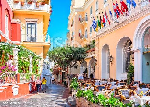 istock Tourists at Street cafes on Capri Island 888132578