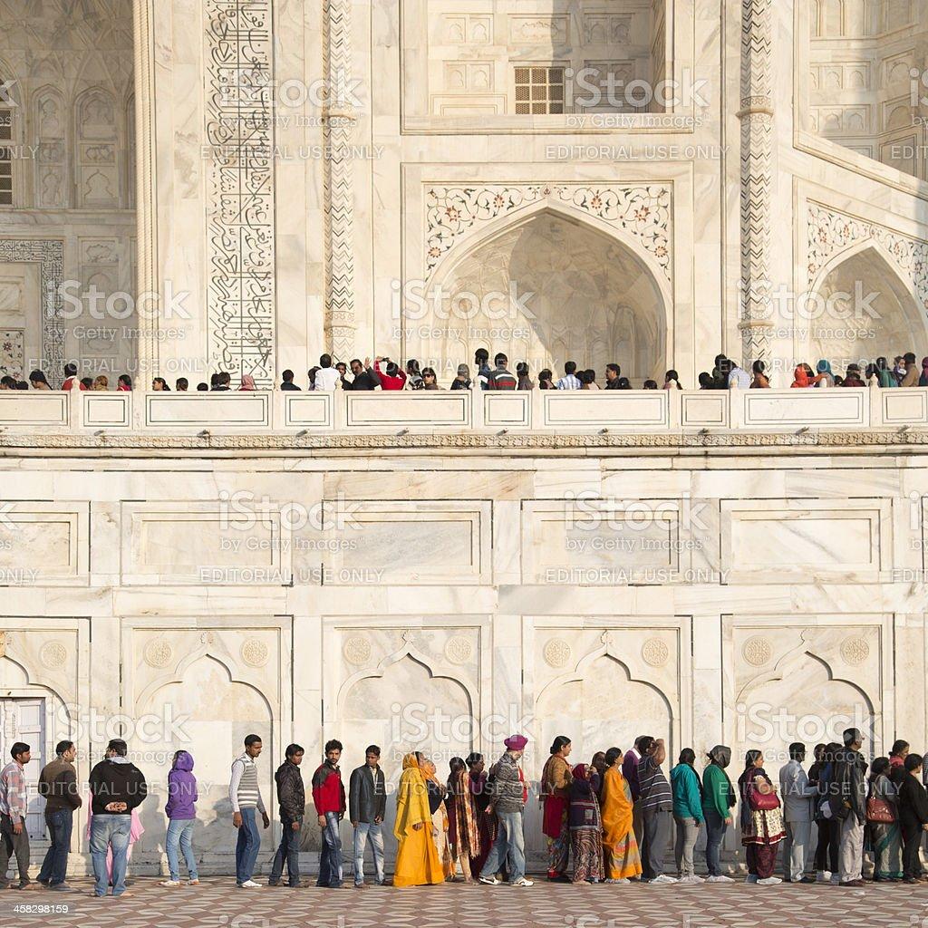 Tourists at Taj Mahal, Agra, India royalty-free stock photo