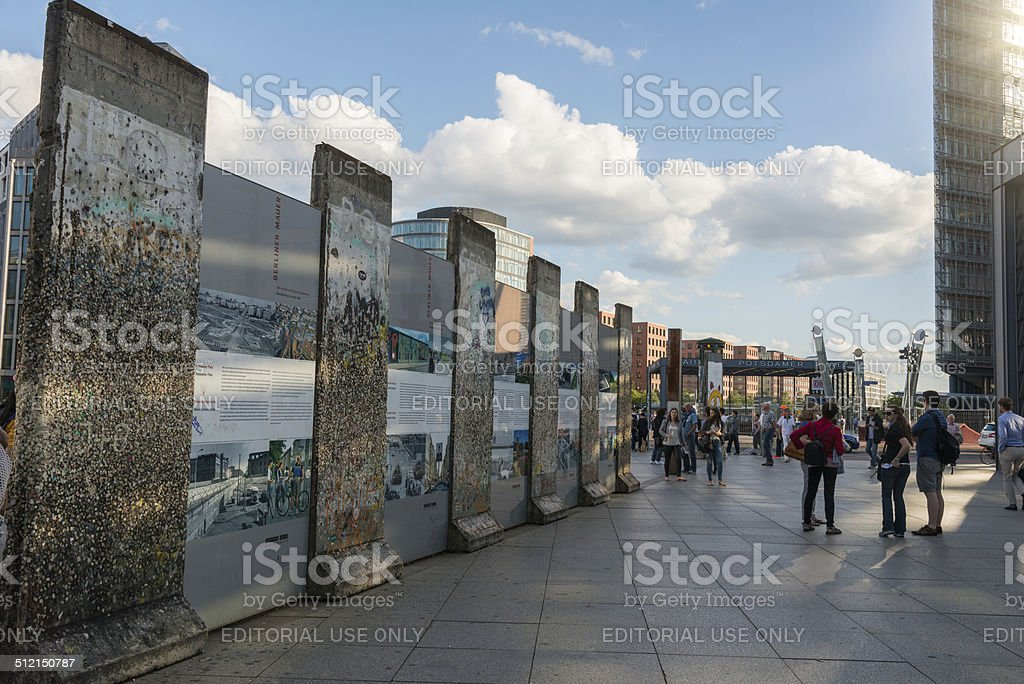 Tourists at the Berlin Wall stock photo