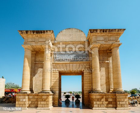 istock Tourists at Triumphal arch, Cordoba, Andalucia Spain 1018787856