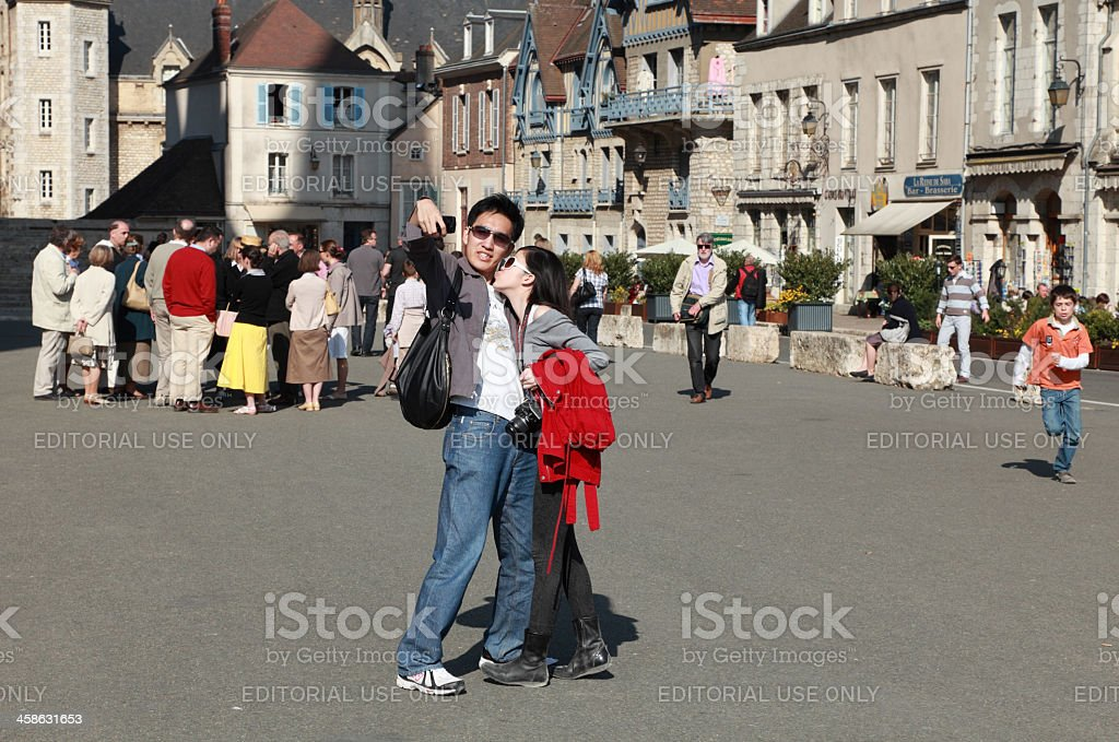 Tourists clicking their snap royalty-free stock photo