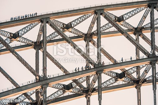 istock Tourists climb on two layers of the Sydney Harbour Bridge 939557456