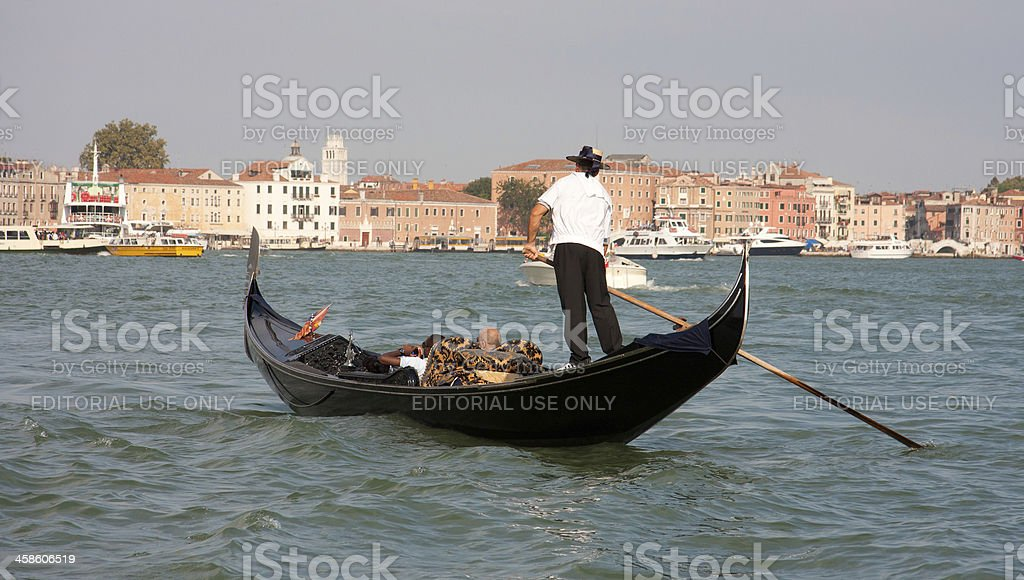 Tourists Enjoying a Gondola royalty-free stock photo