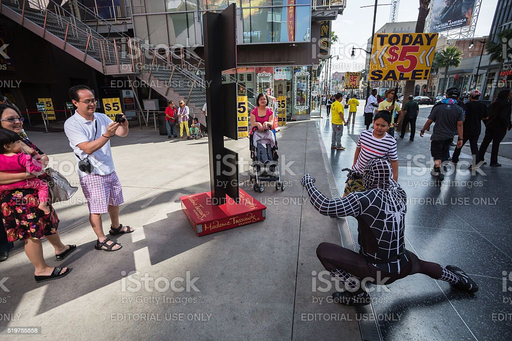 Tourists  enjoying a show stock photo
