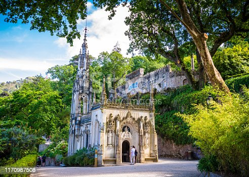 The Quinta da Regaleira is an extravagant 19th century gothic mansion that is surrounded with elaborate gardens filled with decorative fortifications, mystic religious symbols and a series of secrete passages and caves.