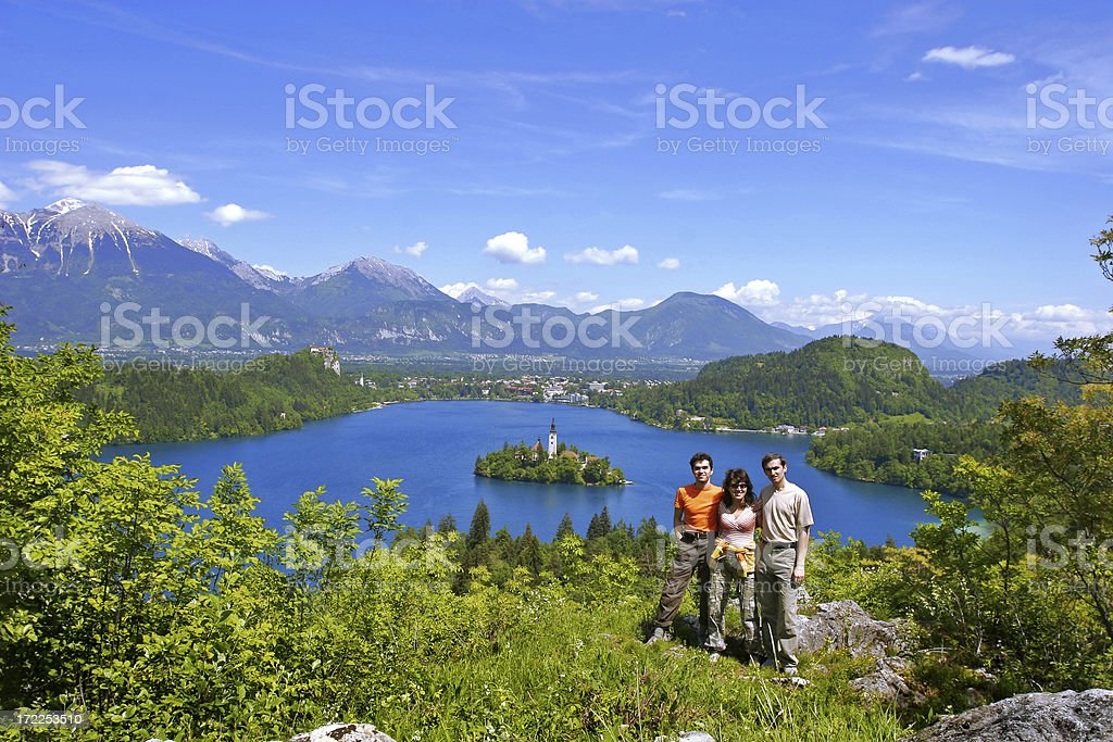 Tourists in an Earthly Paradise stock photo