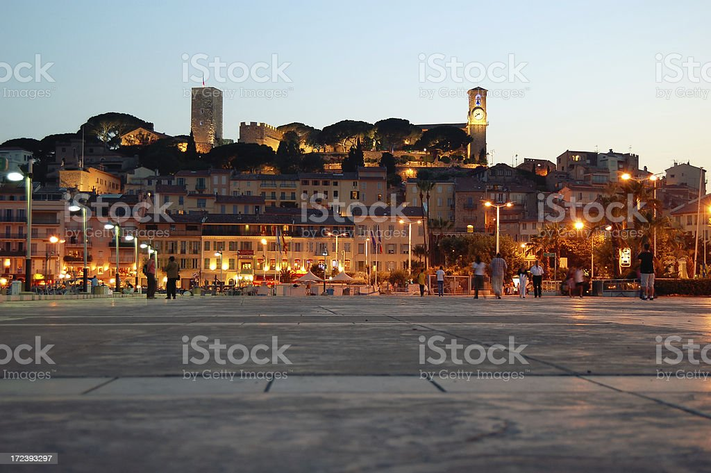 Tourists in Cannes royalty-free stock photo