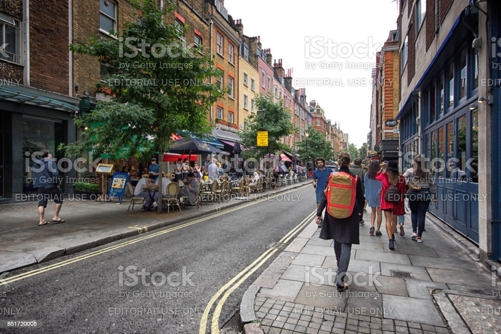 Tourists in central London stock photo