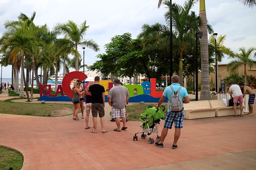 Tourists in Cozumel