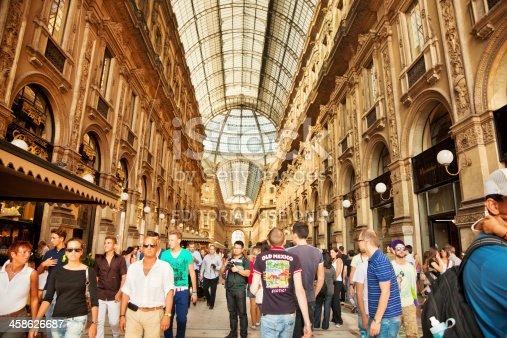 istock Tourists in Galleria Vittorio Emanuele II 458626687
