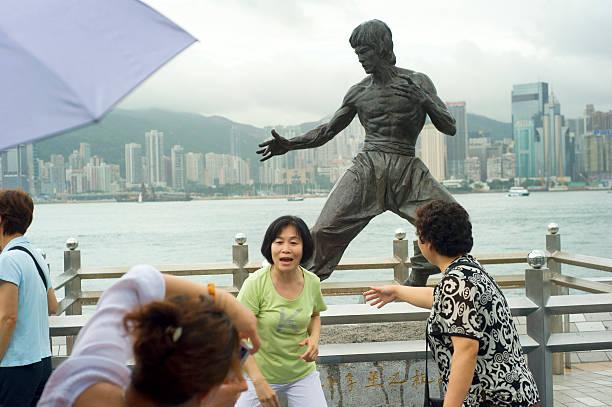 Turistas em Hong Kong - foto de acervo