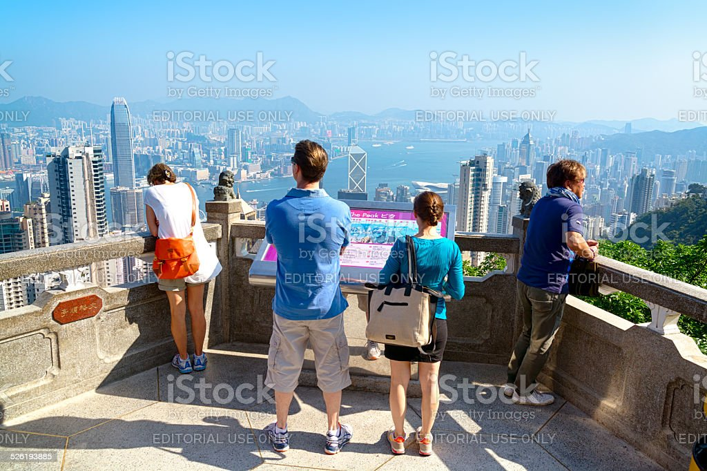 Tourists in Hong Kong stock photo
