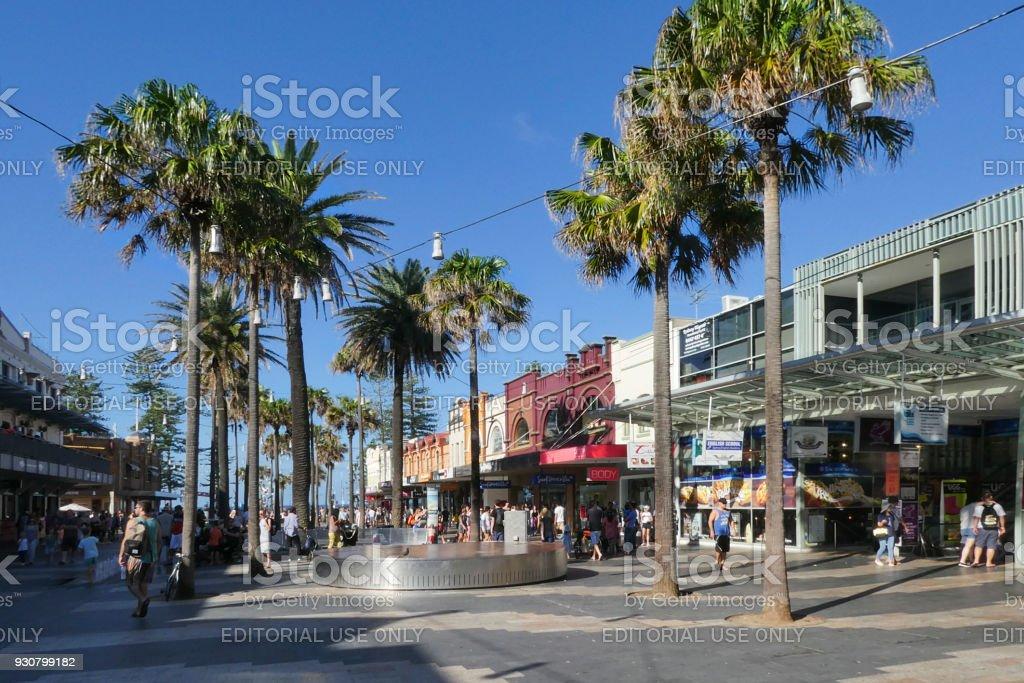 Tourists in Manley Town - Australia stock photo
