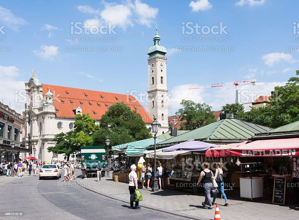 Tourists in Munich stock photo