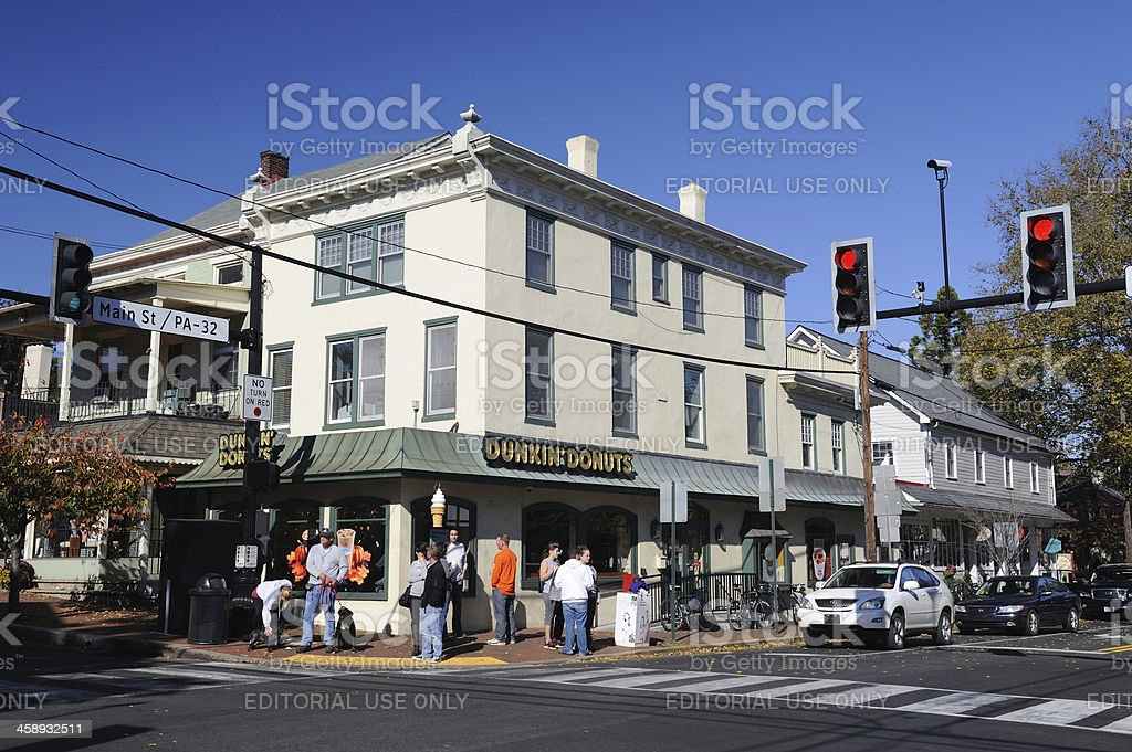 Tourists in New Hope stock photo