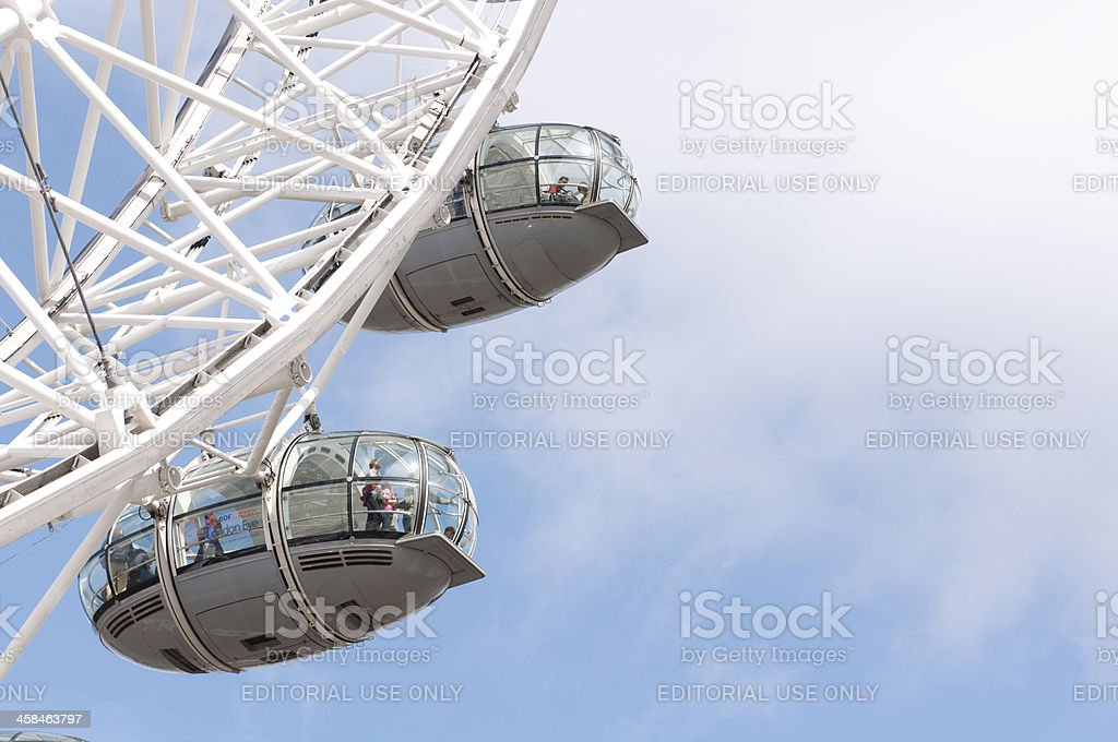Tourists in pods on the London Eye royalty-free stock photo