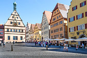 istock Tourists in Rothenburg, Germany. 1078389898