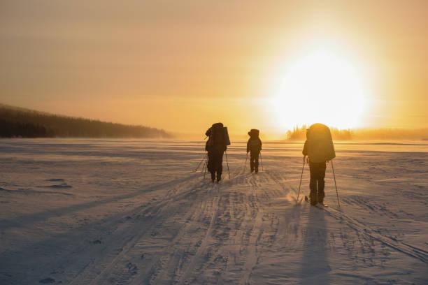 Cтоковое фото Tourists in Russian Lapland, Kola Peninsula