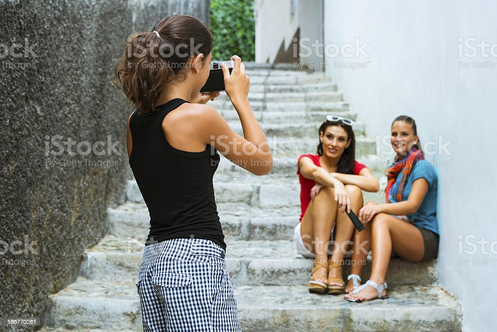 Tourists in Spain royalty-free stock photo