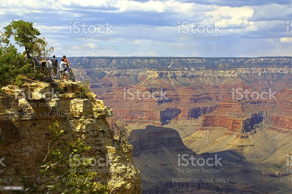 Tourists in the Grand Canyon National Park stock photo