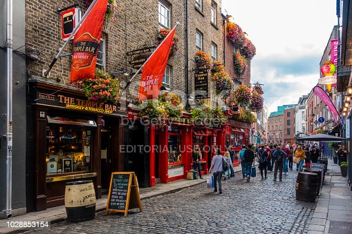 172763398 istock photo tourists in the Temple Bar area in Dublin 1028853154