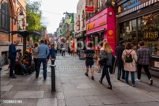 172763398 istock photo tourists in the Temple Bar area in Dublin 1028853184