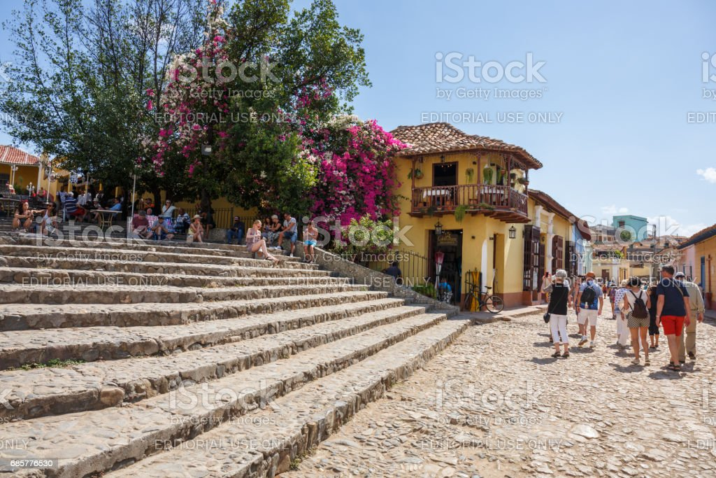Tourists in Trinidad royalty-free stock photo