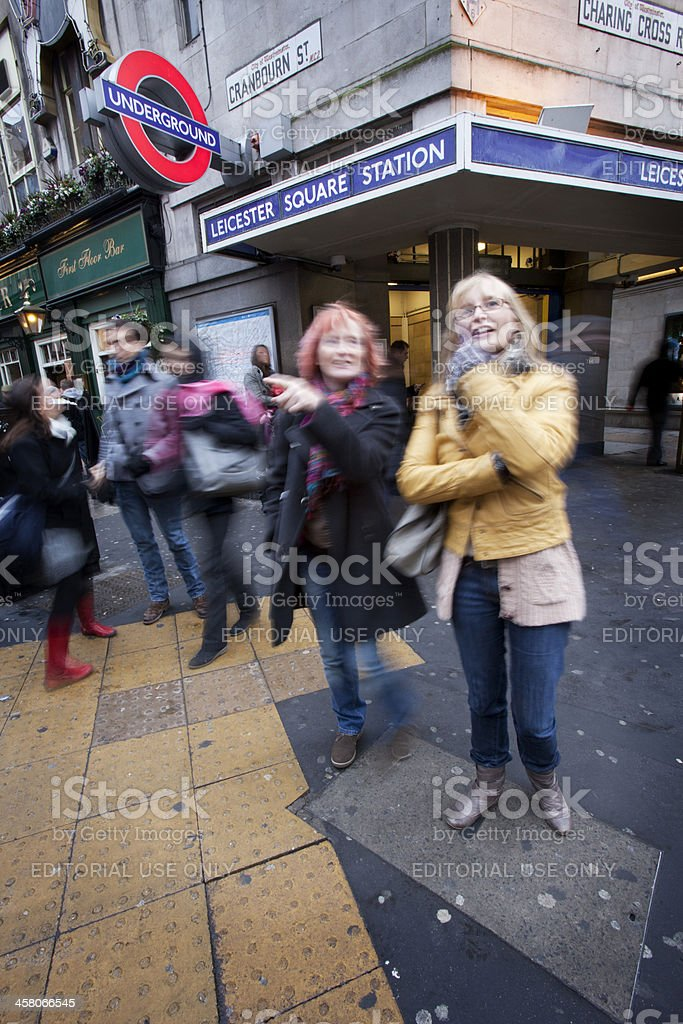 Tourists lost in London stock photo
