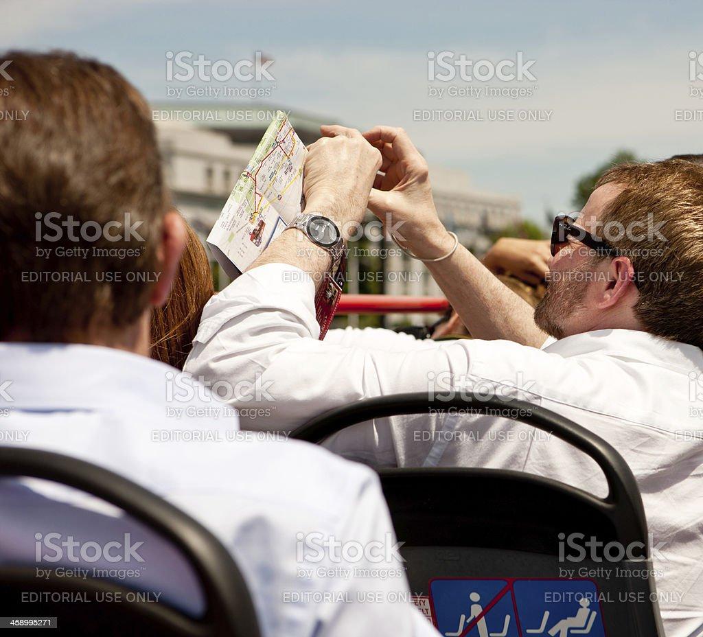Tourists On A Big Bus Tour Washington Dc Usa Stock Photo More