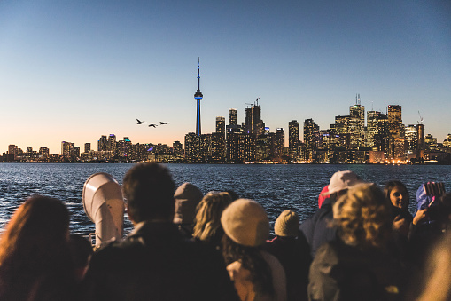 Tourists On A Ferry Boat In Toronto Stock Photo - Download Image Now
