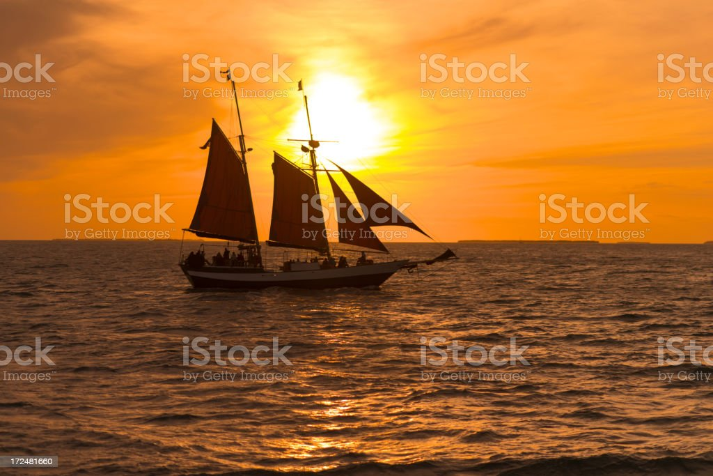 Tourists on a Sunset Cruise off Key West