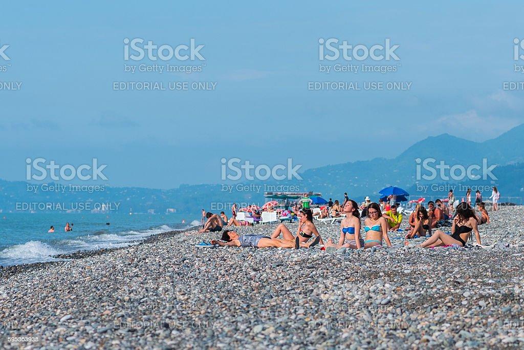 Tourists on Batumi Beach – Foto