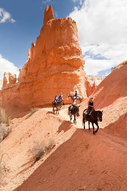 Touristen auf Pferd Trail im Bryce Canyon National Park – Foto