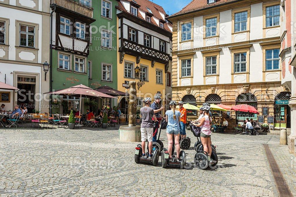 Tourists on segways stock photo