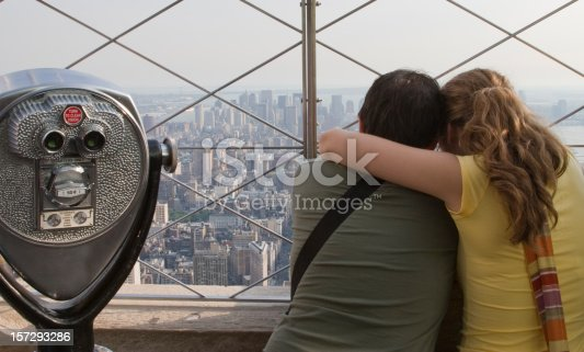 458128003 istock photo Tourists on the Empire State Building 157293286