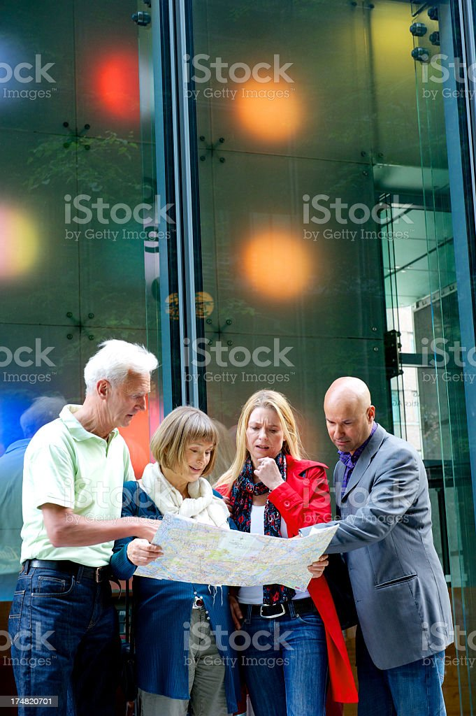 Tourists reading map royalty-free stock photo