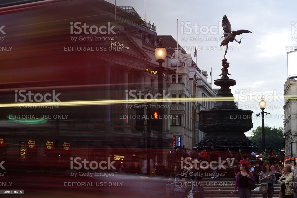 tourists resting in Piccadilly Circus stock photo