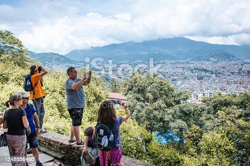istock Tourists Taking Photographs in Kathmandu 1248886495